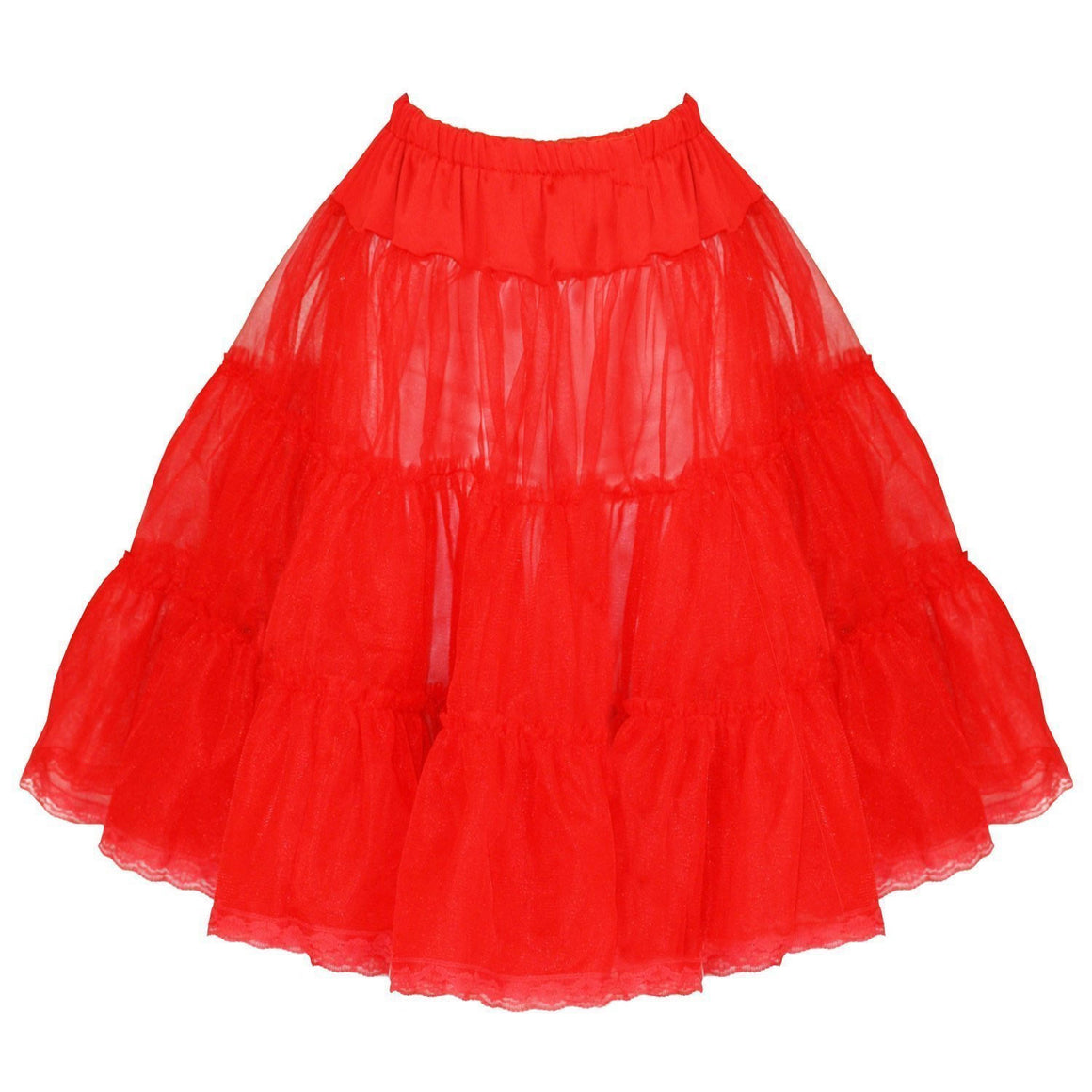 Red Frill Tutu 50s Rockabilly Wedding Petticoat Skirt