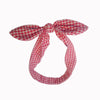 Red White Gingham Check Vintage Headscarf - Pretty Kitty Fashion