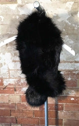 Black Faux Fur Over Sized Stole Scarf - Pretty Kitty Fashion