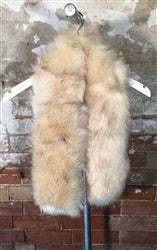 Cream Faux Fur Over Sized Stole - Pretty Kitty Fashion