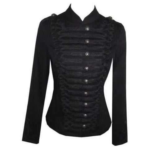 Victorian Black Gothic Military SteamPunk Indie Jacket Coat