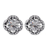 Vintage Diamante Rhinestone Stud Earrings