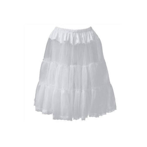 White Frill Tutu 50s Rockabilly Wedding Petticoat Skirt