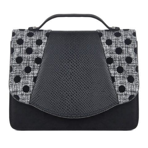 Ruby Shoo Black Spots Cross Body Bag