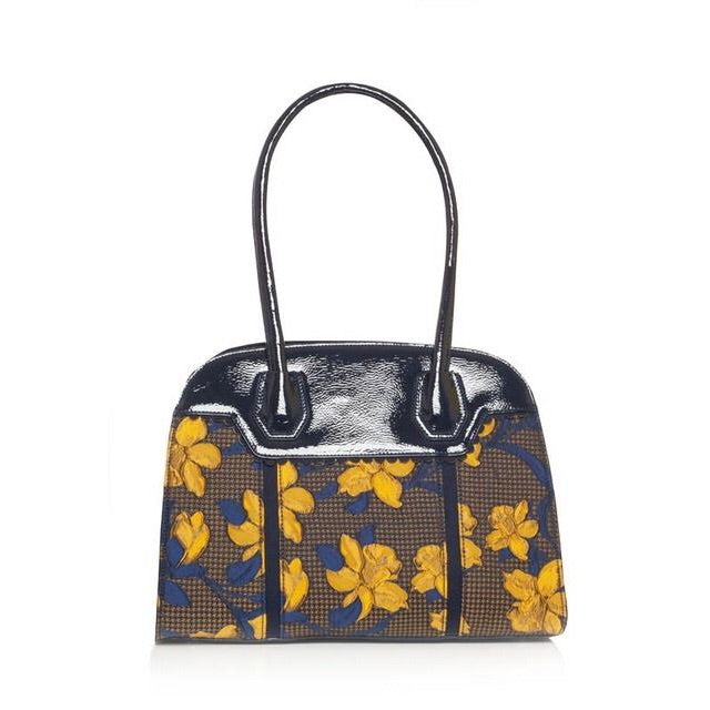 Ruby Shoo Montpellier Navy Mustard Hand Bag