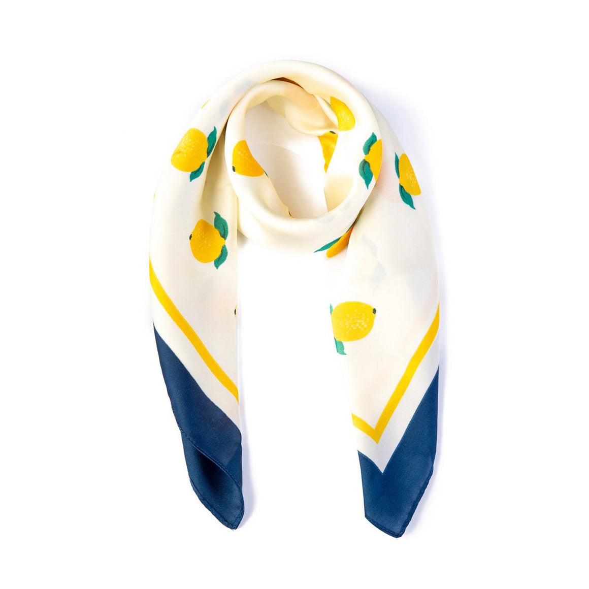 Yellow And Lemon Print Scarf