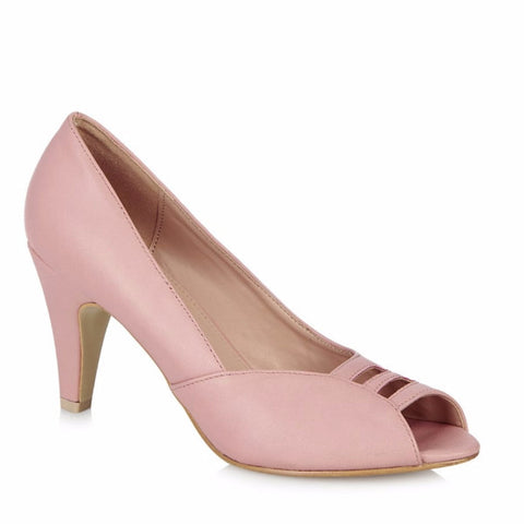 Pink Peep Toe High Heels