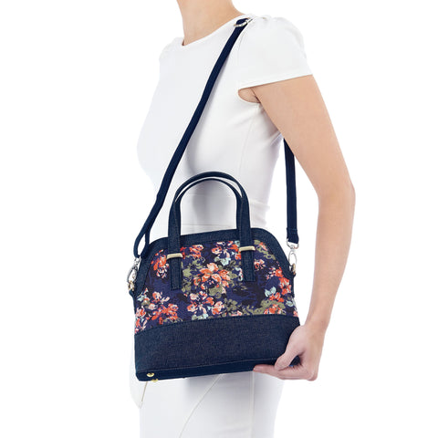 Ruby Shoo Lima Denim Floral HandBag