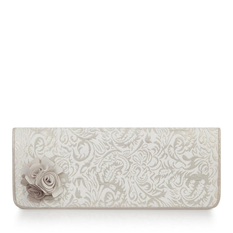 Ruby Shoo London Cream Gold Clutch Bag