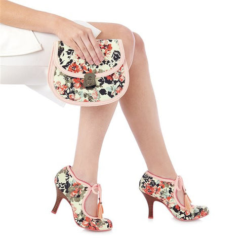 Ruby Shoo Monaco Pink Peach Floral Bag
