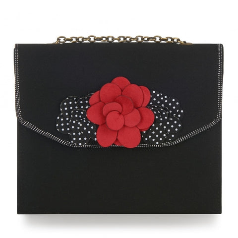 Ruby Shoo Oslo Black Box Bag