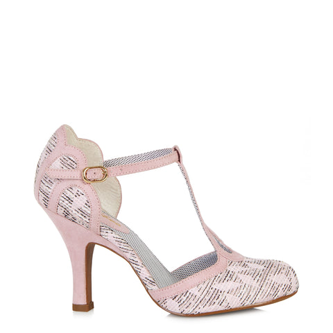 Ruby Shoo Polly Pink High Heel T Bar Heels