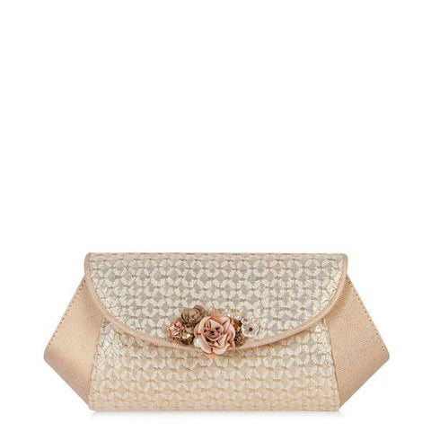 Ruby Shoo Porto Gold Clutch bag