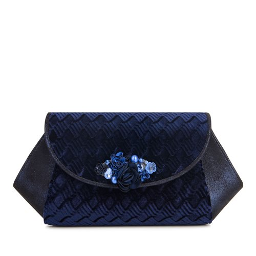 Ruby Shoo Porto Midnight Blue Clutch bag