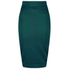 Classic Stretch Emerald Green Pencil Bodycon Midi Office Work Skirt - Pretty Kitty Fashion