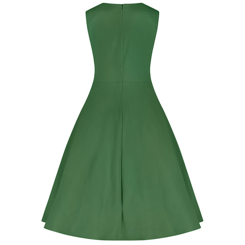 Emerald Green 50s Swing Dress