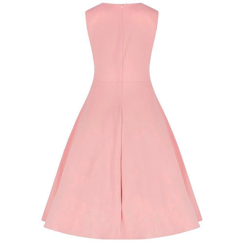 Vintage Pink 50s Swing Waistband Dress