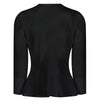 Black Long Sleeve Tie Front Jacket - Pretty Kitty Fashion