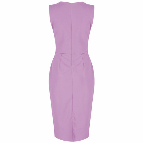 Lilac 40s Bodycon Hollywood Pencil Dress