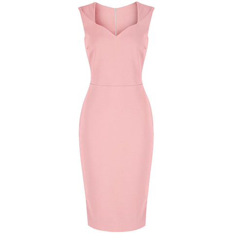 Vintage Pink 40s Bodycon Hollywood Pencil Dress
