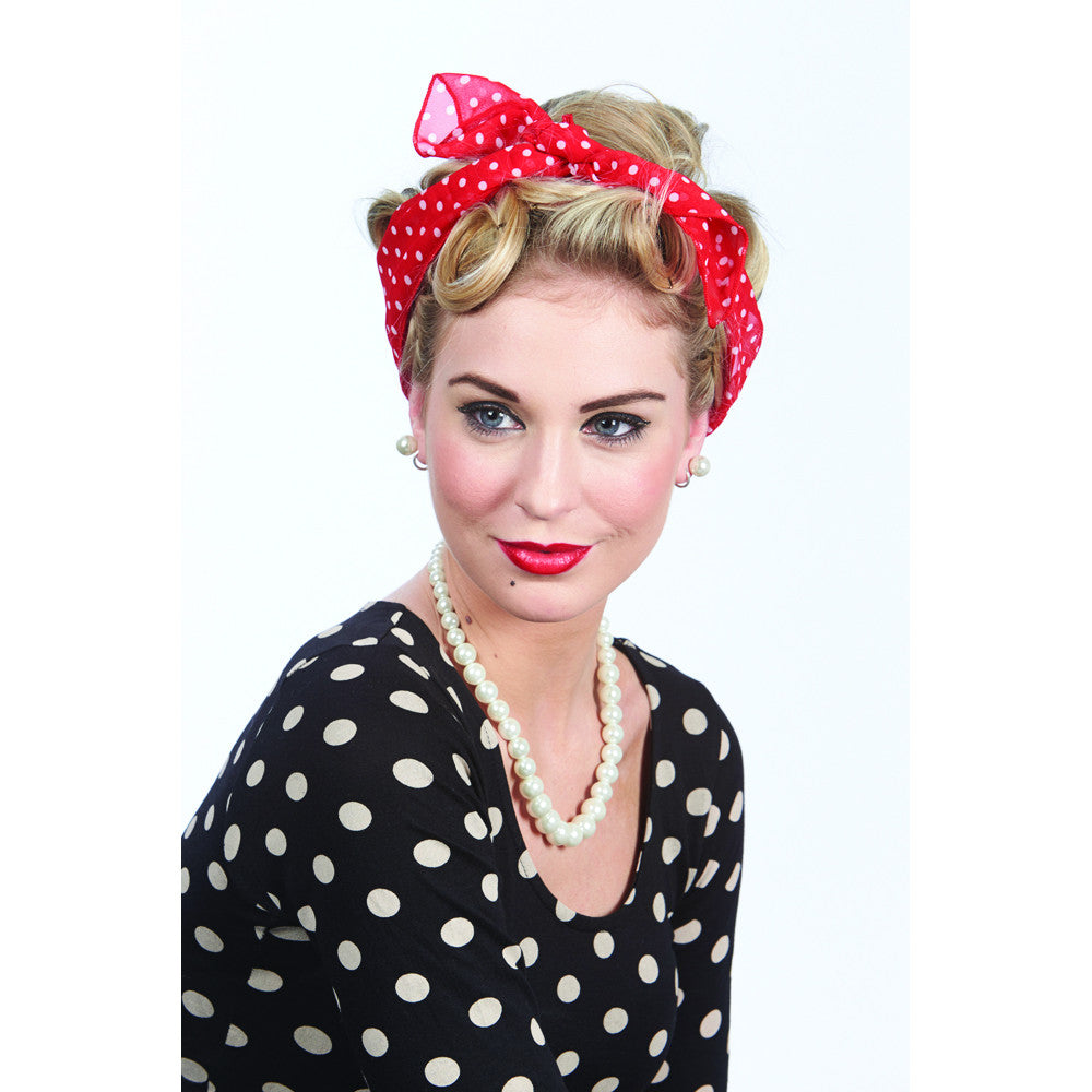 Retro Vintage Headscarf Set - Pretty Kitty Fashion