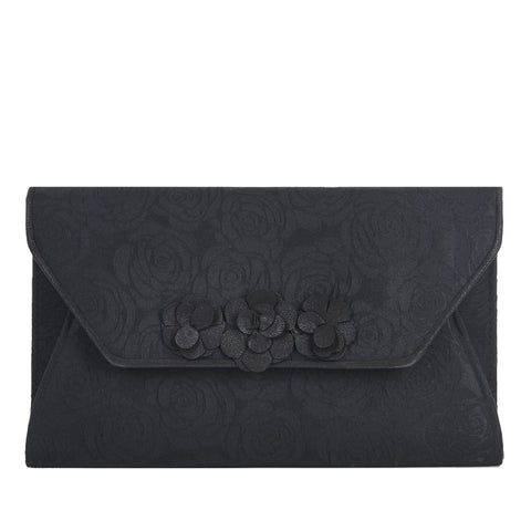 Ruby Shoo Black Corsage Clutch Bag