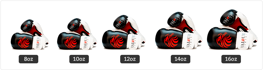 Boxing Glove Sizes