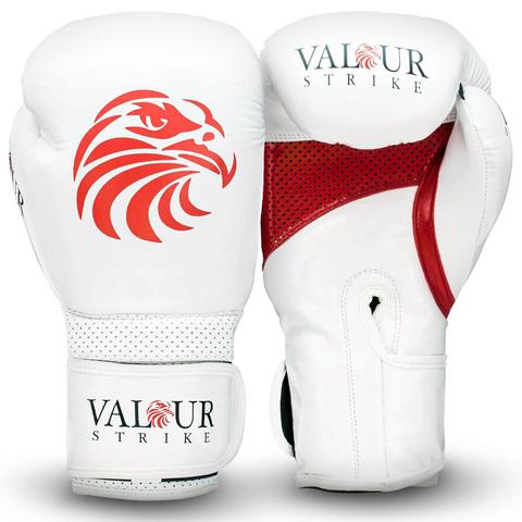 Premium White Paws Boxing Sparring Gloves