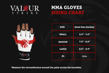 MMA Gloves Size Guide