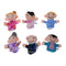 16pc History Finger Puppets 10 Animals 6 People Family Members Educational M1X5