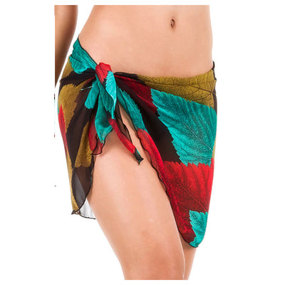 Beach cover up Bikini Swimwear Skirt Color leaves O1F8 J8I3