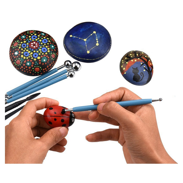 13 Piece Ball Stylus Dotting Tools, Clay Pottery Modeling Set, Rock Paintin Y8S4
