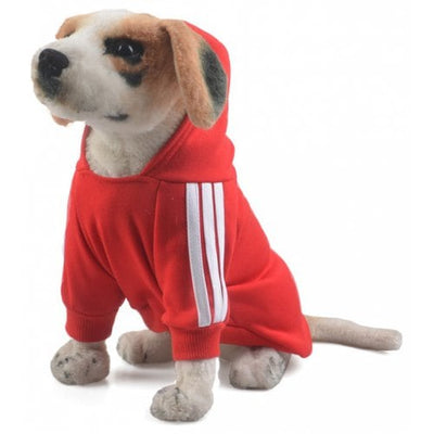 Pet Clothes for Dog Cat Puppy Hoodies Coat Winter Sweatshirt Warm - RED M