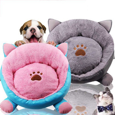 New Style Cat Ears Autumn and Winter Thicken Cozy Pet Nest - DARK GRAY 40*40*18CM