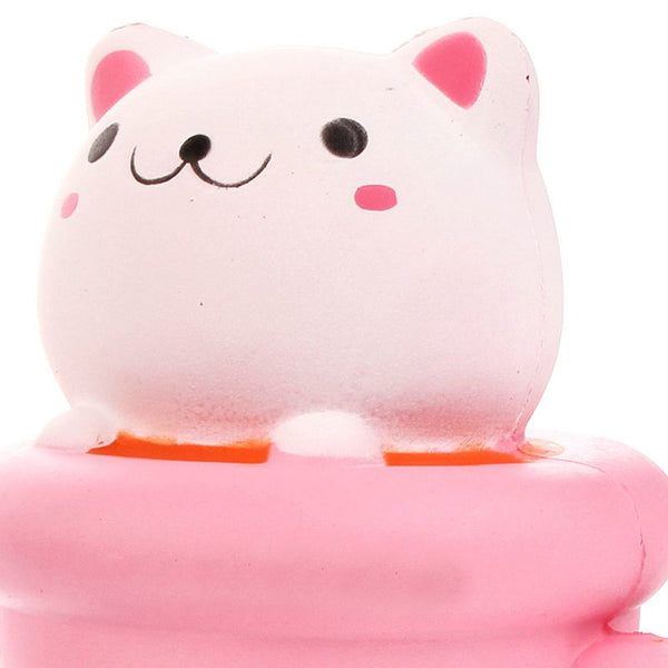 14CM Jumbo Squishy Cup Cat Pussy Squeeze Cute Animal Slow Rising Scented Br J6M1