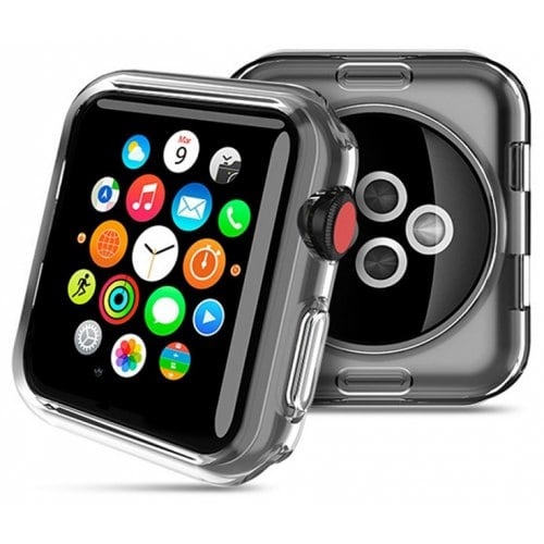 Apple Watch 3 Generation 38MM/42MM IWatch Transparent Ultra Thin TPU Protector - TRANSPARENT 38MM