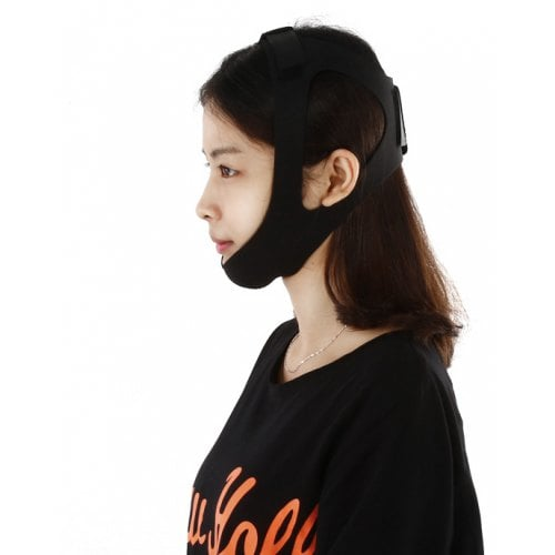 HJM0003 Anti Snoring Chin Strap - BLACK