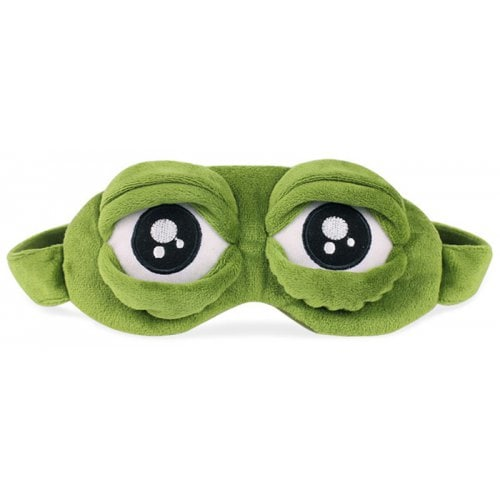 Creative Cartoon Spoof Sad Frog Eyes Sleeping Blinder - GREEN