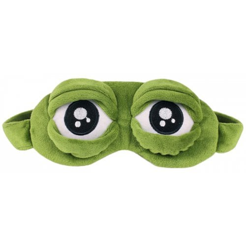 Cartoon Expression Frog Light-tight Sleep Eye Mask - GREEN
