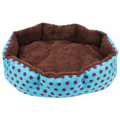 Cute Dots Cotton Pet Kennel for Cats and Dogs - BUTTERFLY BLUE