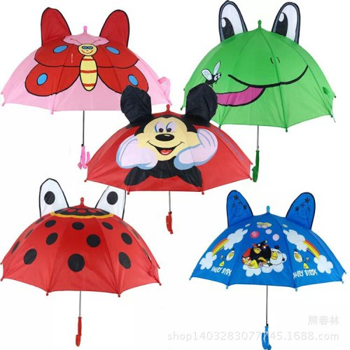 Children Umbrella Cartoon Stereo Ear Umbrella Creative Gift Child Umbrella Animal Ear Dance Umbrella - MICKEY THE DIAMETER OF THE UMBRELLA IS 78CM; THE RADIUS IS 50CM