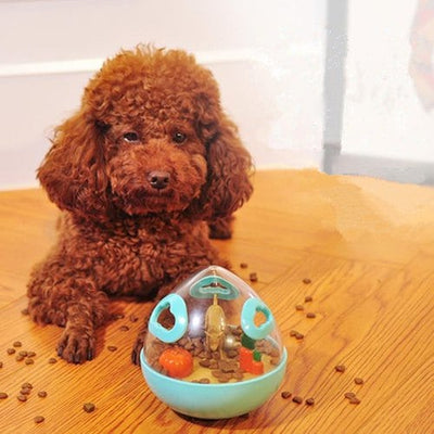 Pet Dog Cute Transparent Tumbler Leaking Food Ball Toy - YELLOW