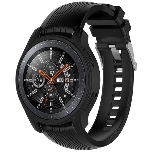 Silicone Case Universal for Samsung Gear S3 Frontier / Samsung Galaxy Watch 46mm - BLACK