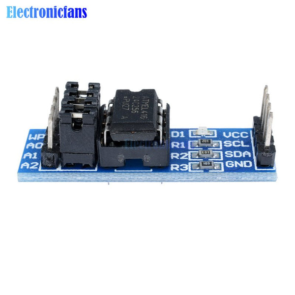 5Pcs AT24C256 24C256 I2C Interface EEPROM Memory Module 8P Chip Power  Supply Indicator Pull Up Resistor Direct Jumper Setting