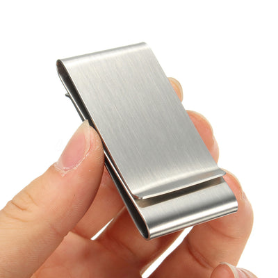 Alcoa Prime Ultra Thin Slim Stainless Money Clip Double Sided Credit Card Holder Wallet New