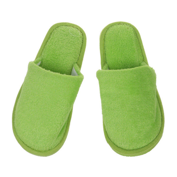 Women Green Fleeces House Soft Winter Warm SlipPers 41 C5S5 Z1L4