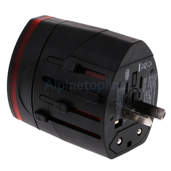 Dual USB Travel Adapter Universal Power Converter AC Plug Wall Charger Black