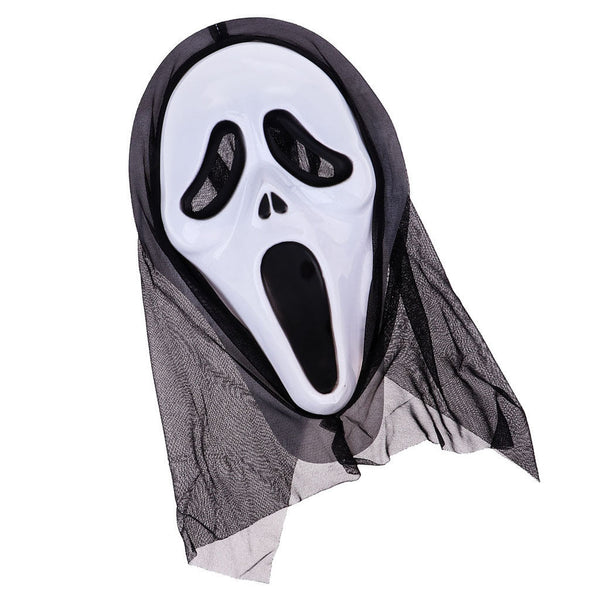 Scary Ghost Scream Mask Face Hood for Halloween Masquerade Party Dress -#1