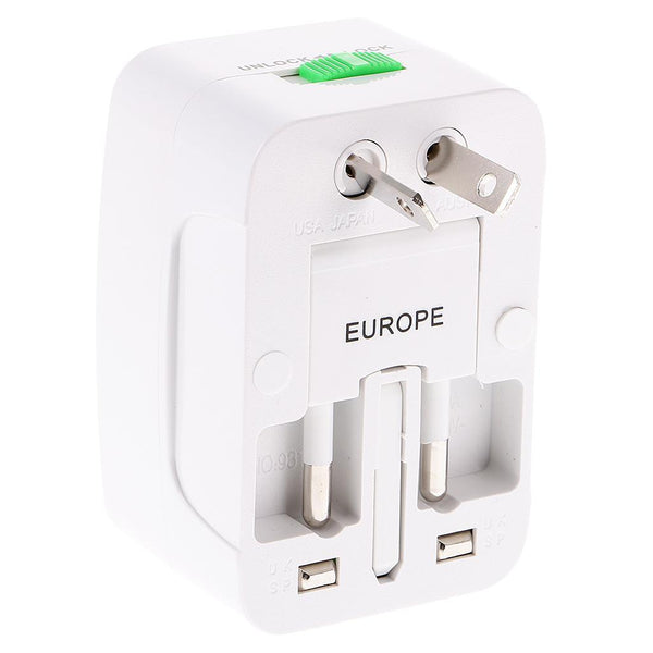 Universal International Worldwide Travel AC Power Plug Adapter All in One