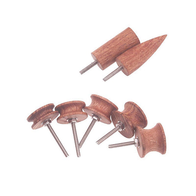 7pcs/Set Leather Burnisher Kit Pointed Tip Leather Burnisher Slicker Tools